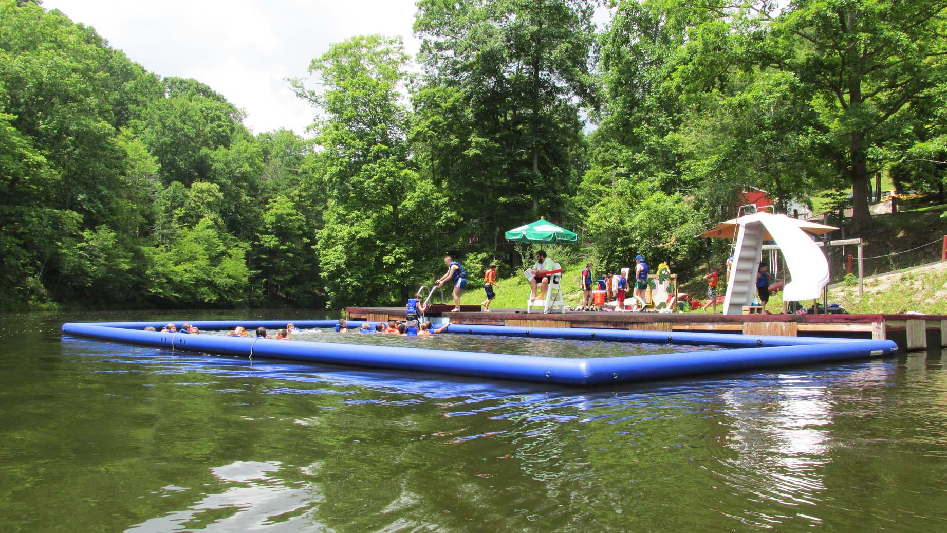 Waterside resort safe swimming area