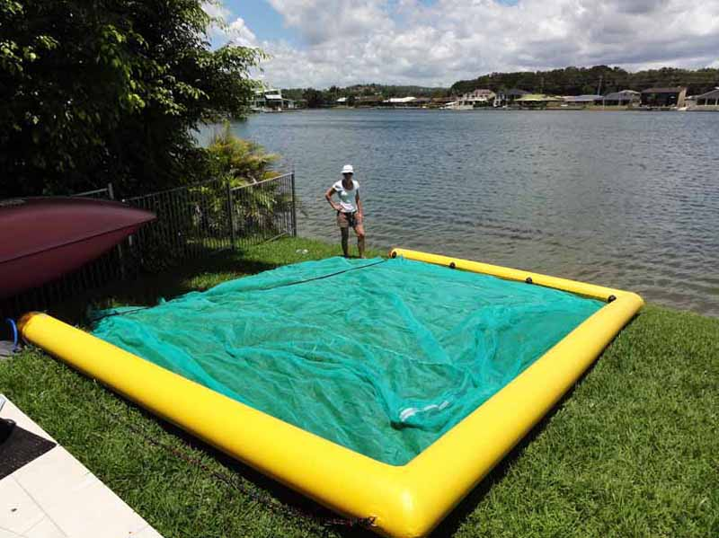 Floating Inflatable Swimming Pool Enclosure Video Boomswim