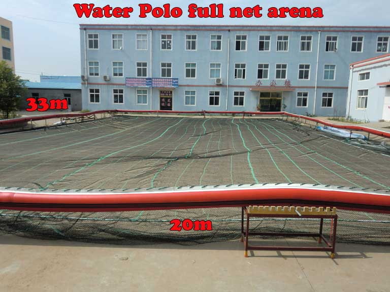 Water-polo portable netted arena